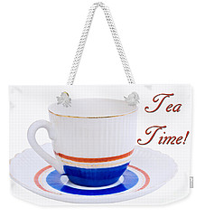 Antique Teacup From Japan With Tea Time Invitation Weekender Tote Bag