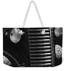 Antique Truck Black And White Weekender Tote Bag by Wilma  Birdwell