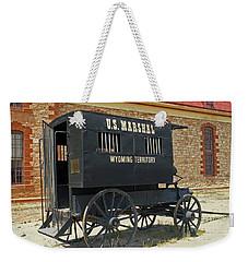 Antique U.s Marshalls Wagon Weekender Tote Bag