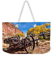 Antique Wagon In The Desert Weekender Tote Bag