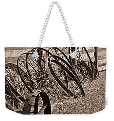 Antique Wagon Wheels II Weekender Tote Bag