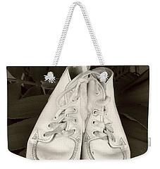 Antiqued Baby Shoes Weekender Tote Bag by Ellen O'Reilly