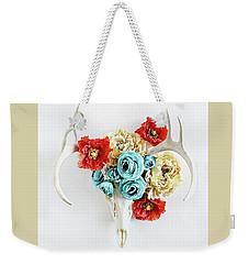 Antlers And Florals Weekender Tote Bag