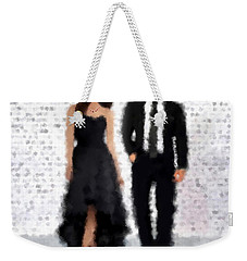 Weekender Tote Bag featuring the digital art Antonia And Giovanni by Nancy Levan