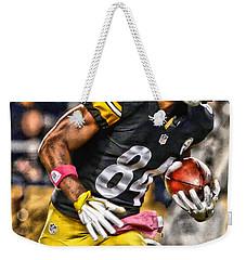 Antonio Brown Steelers Art 2 Weekender Tote Bag by Joe Hamilton