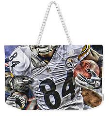 Antonio Brown Steelers Art Weekender Tote Bag by Joe Hamilton