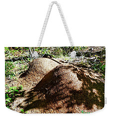 Weekender Tote Bag featuring the photograph Ants And Unks by Sadie Reneau