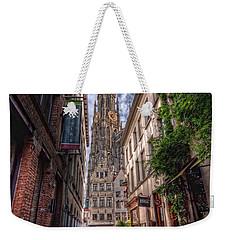 Antwerp Cathedral Weekender Tote Bag