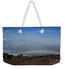 Anuenue - Rainbow At The Ahinahina Ahu Haleakala Sunrise Maui Hawaii Weekender Tote Bag