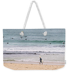 Weekender Tote Bag featuring the photograph Any Day's A Good Day To Surf by Linda Lees