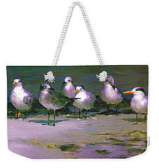 Any New Gossip Weekender Tote Bag by David  Van Hulst