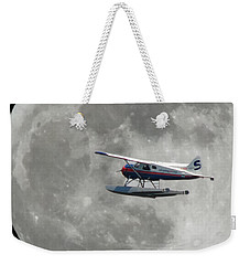 Aop And The Full Moon Weekender Tote Bag by Mark Alan Perry