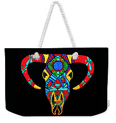 Weekender Tote Bag featuring the painting Apache Dawn Close Up by Debbie Chamberlin