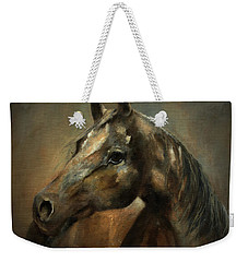 Weekender Tote Bag featuring the painting Apache Spirit by Barbie Batson
