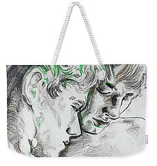 Weekender Tote Bag featuring the painting Apallo And Hyacinth  by Rene Capone