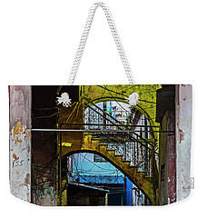 Weekender Tote Bag featuring the photograph Apartment Enrance Havana Cuba Near Calle C by Charles Harden
