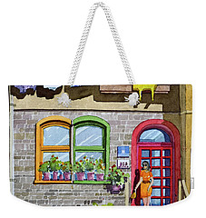 Apartment With Red Door Weekender Tote Bag