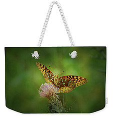 Weekender Tote Bag featuring the photograph Aphrodite Fritillary Butterfly by Sandy Keeton