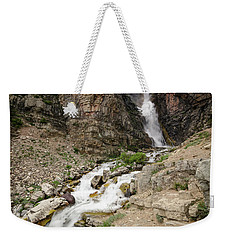 Weekender Tote Bag featuring the photograph Apikuni Falls by Margaret Pitcher