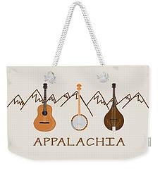Appalachia Mountain Music Weekender Tote Bag by Heather Applegate