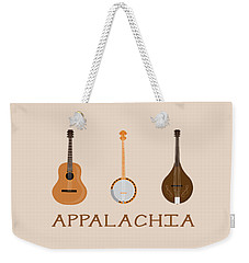 Weekender Tote Bag featuring the digital art Appalachia Music by Heather Applegate