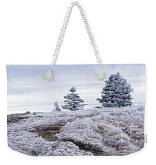 Weekender Tote Bag featuring the photograph Appalachian Trail Winter Hike by Serge Skiba