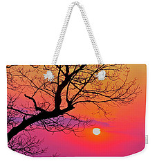 Appalcahian Sunset Tree Silhouette #2 Weekender Tote Bag