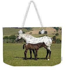 Appaloosa Mare And Foal Weekender Tote Bag