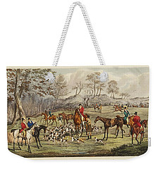 Weekender Tote Bag featuring the painting Apperley, Charles James The Life Of A Sportsman. By Nimrod. by Artistic Panda