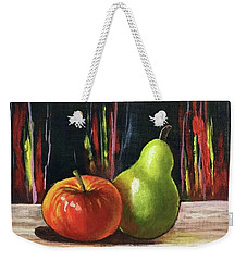 Apple And Pear Weekender Tote Bag
