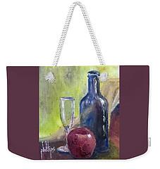 Apple And Wine Weekender Tote Bag by Jim Phillips