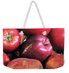Weekender Tote Bag featuring the photograph Apple Basket by Kristin Elmquist