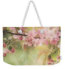 Apple Blossom Frost Weekender Tote Bag