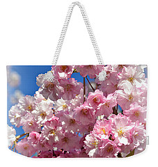 Weekender Tote Bag featuring the photograph Apple Blossom Special by Miriam Danar