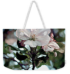Weekender Tote Bag featuring the painting Apple Blossom Time by RC DeWinter