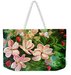 Apple Blossoms  Weekender Tote Bag by Alan Lakin