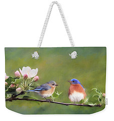 Apple Blossoms And Bluebirds Weekender Tote Bag