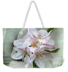 Weekender Tote Bag featuring the photograph Apple Blossoms From My Hepburn Garden by Chris Armytage