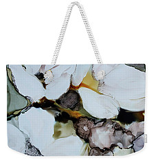 Weekender Tote Bag featuring the painting Apple Blossoms by Joanne Smoley