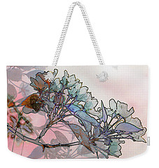 Weekender Tote Bag featuring the digital art Apple Blossoms by Stuart Turnbull