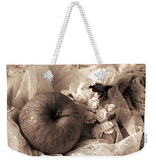 Apple In Sepia Weekender Tote Bag
