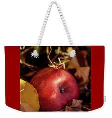 Apple In The Leaves Weekender Tote Bag