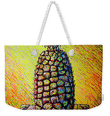 Weekender Tote Bag featuring the painting Apple ..of The Pine by Viktor Lazarev