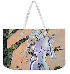 Apple, Snake, Woman -- Eve In Garden Of Eden, #4 In Famous Flirts Series Weekender Tote Bag