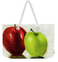 Weekender Tote Bag featuring the pastel Apple Study by Linde Townsend