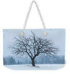 Apple Tree In Snowfall Weekender Tote Bag