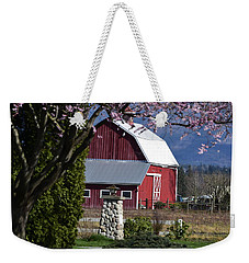 Apple Tree Pink And Barn Red Weekender Tote Bag