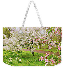 Apple Trees In Bloom Weekender Tote Bag by Jessica Jenney