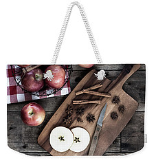 Weekender Tote Bag featuring the photograph Apples And Cinnamon  by Kim Hojnacki