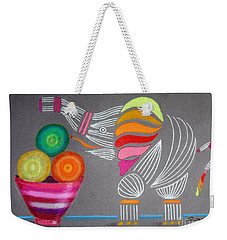 Apples And Oranges And Elephants, Oh My -- Whimsical Still Life W/ Elephant Weekender Tote Bag